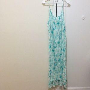 Lovestich aqua blue tie dye maxi dress